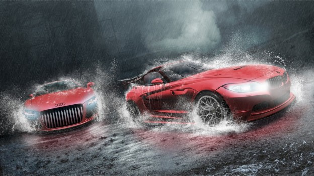 = Racing in the Rain!