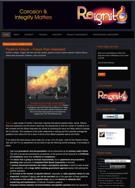 Reignite WordPress Blog